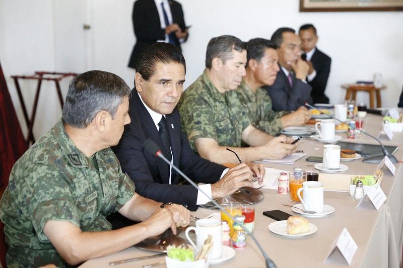 Aureoles Conejo subrayó que no deben dejarse de lado los resultados de las acciones de inteligencia y operativas planeadas y constantemente revisadas en este grupo de trabajo