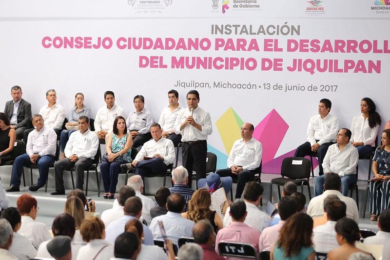 Con trabajo del Consejo Ciudadano, tendremos muy buenos resultados por Jiquilpan: Silvano Aureoles