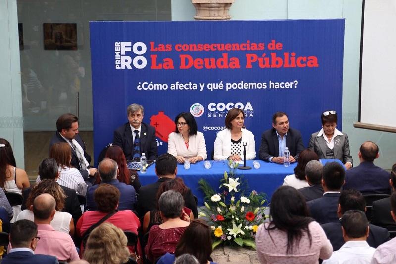 Por su parte, el senador y ex Secretario de Hacienda y Crédito Público,  Ernesto Cordero, señaló que en México se ha abusado de los niveles de deuda