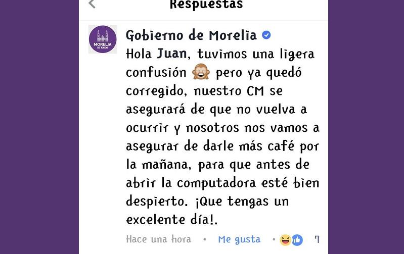 Los errores en la difusión de imágenes a través de las redes sociales, principalmente Twitter, han sido una constante a lo largo de esta administración del Ayuntamiento de Morelia