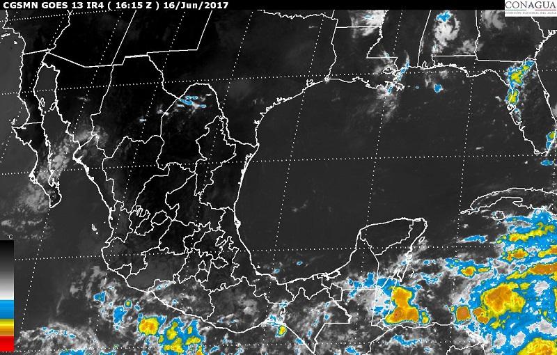 Zona de nublados densos y la Onda Tropical Número 6 generarán tormentas intensas en Chiapas