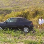 En el lugar se localizó un vehículo Volkswagen Cabrio, de color negro, con placas de circulación PST-2616 de esta entidad, conducido por Rafael Alejandro Q., de 34 años de edad, siendo atendido por paramédicos en el lugar