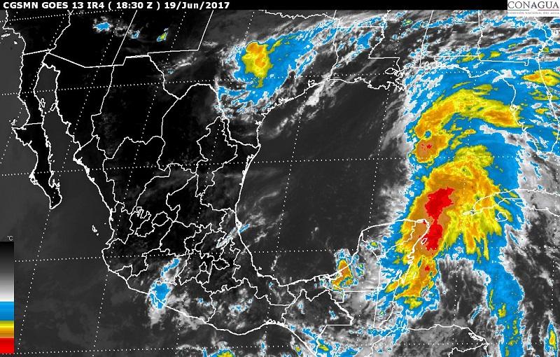 Se pronostican tormentas intensas para Tabasco, Chiapas, Campeche, Yucatán y Quintana Roo