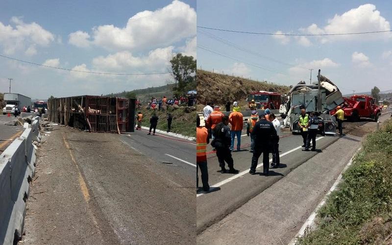 En el lugar trabajan la Policía Michoacán y Protección Civil de Tarímbaro