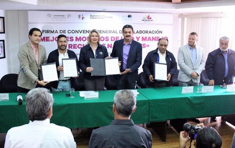 El acuerdo fue firmado en las instalaciones de la SEMARNAAC, parte del titular de la institución, Ricardo Luna García, y la Directora General Pronatura México, Katherine Dawn Gregoire, así como Eduardo Cota Corona, quien es Director de Conservación y Restauración Ecológica de la misma AC