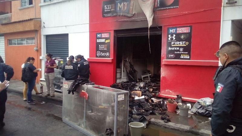 El afectado fue un local dedicado a la venta de productos de seguridad