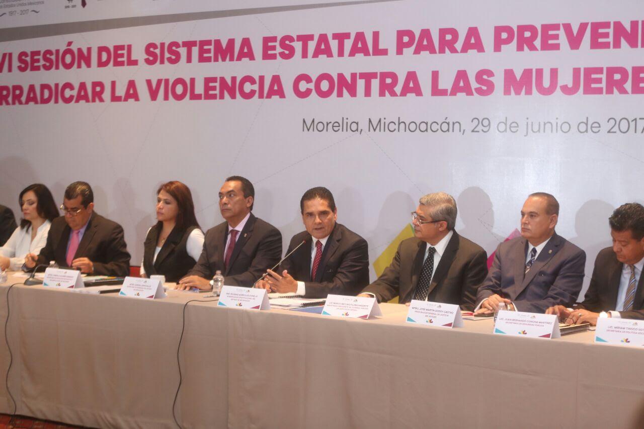 En esta sesión las y los integrantes del Sistema aprobaron también el Programa Estatal para Prevenir, Atender, Sancionar y Erradicar la Violencia contra las Mujeres por Razones de Género