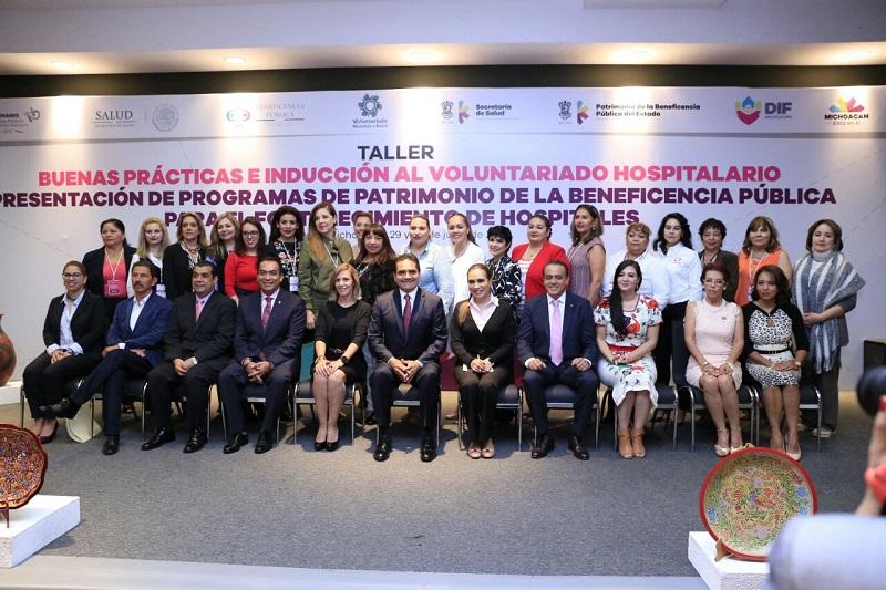 Destaca presidenta del Voluntariado Nacional compromiso de Aureoles Conejo con la salud