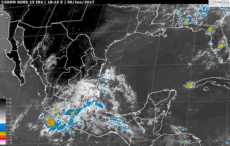 Asimismo, se pronostican tormentas fuertes en sitios de Sonora, Sinaloa, Chihuahua, Nuevo León, San Luis Potosí, Aguascalientes, Zacatecas, Durango, Tamaulipas, Tabasco, Hidalgo, Tlaxcala y Tabasco