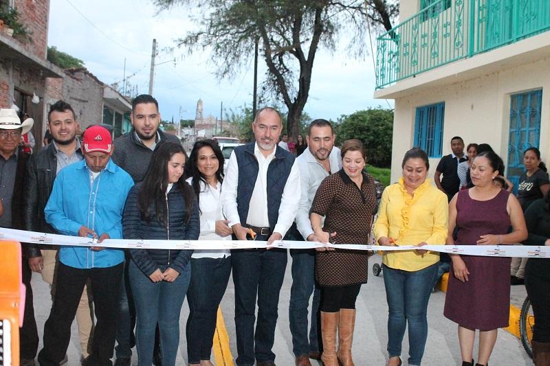 La dependencia estatal invierte 10 millones de pesos en cuatro obras del municipio