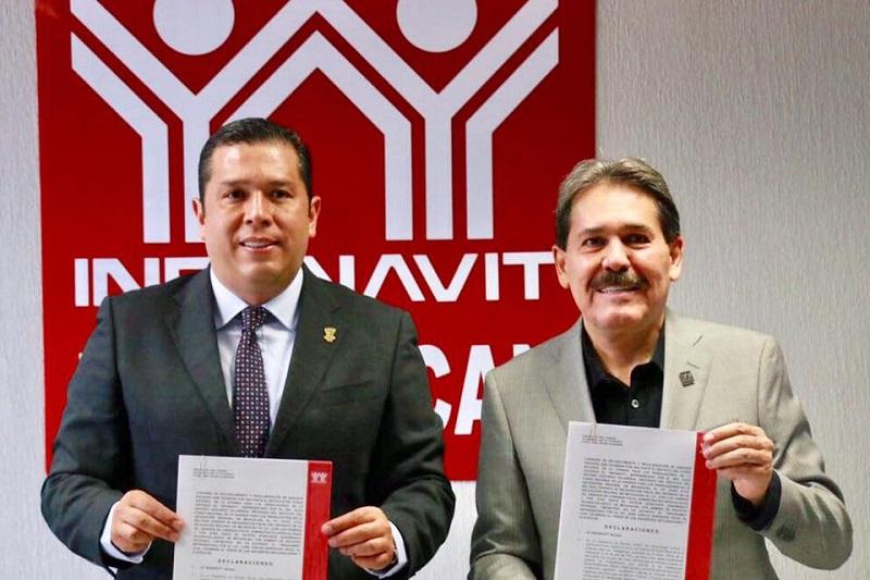 Barragán Vélez indicó que la intención es trabajar de manera coordinada con el Infonavit para seguir contribuyendo al desarrollo de la entidad y sus habitantes, y agradeció al sindicato la confianza para concretar estos acuerdos