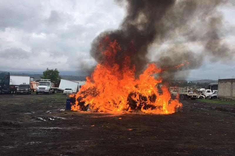 Esto, como resultado de los operativos efectuados en Michoacán