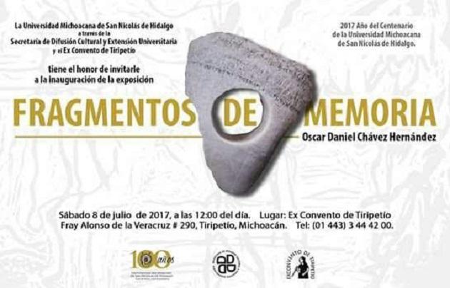 Este espacio cultural de la Universidad Michoacana presenta obra del nicolaita Óscar Daniel Chávez Hernández