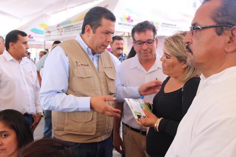 """""""Esto es una indicación del gobernador Silvano Aureoles, y la atendemos con acciones inmediatas, efectivas y eficaces"""", afirmó Barragán Vélez"""