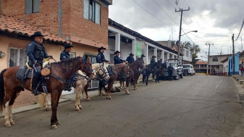 Unidad Montada refuerza prevención y vigilancia en Morelia