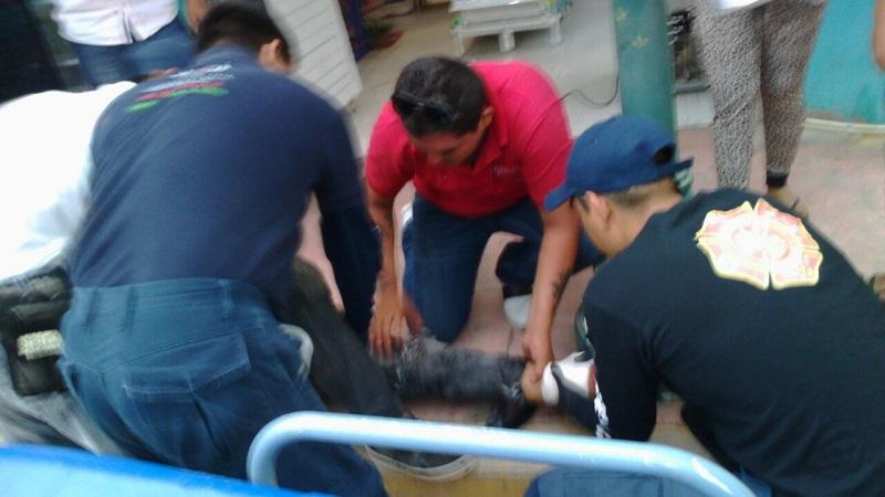 Al lugar arribaron paramédicos de Protección Civil Municipal, los cuales le brindaron las primeras atenciones y posteriormente lo trasladaron al IMSS para recibir atención médica
