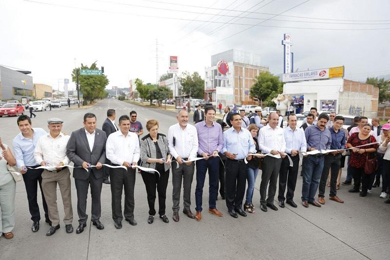La primera etapa de la Modernización de la Infraestructura Vial del Circuito Interior de Morelia, tuvo una inversión de 98 mdp