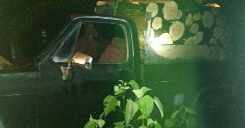 Los detenidos, madera y vehículo fueron puestos a disposición de la autoridad competente