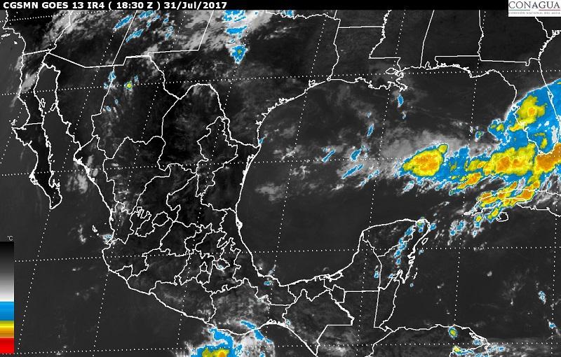 Además, se formó la tormenta tropical Emily en el noreste del Golfo de México, sin generar efectos en la República Mexicana