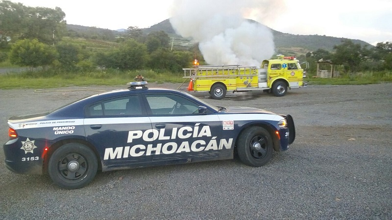 El siniestro fue atendido por elementos de la Coordinación de Protección Civil y Bomberos Municipales de Morelia y la Policía Michoacán