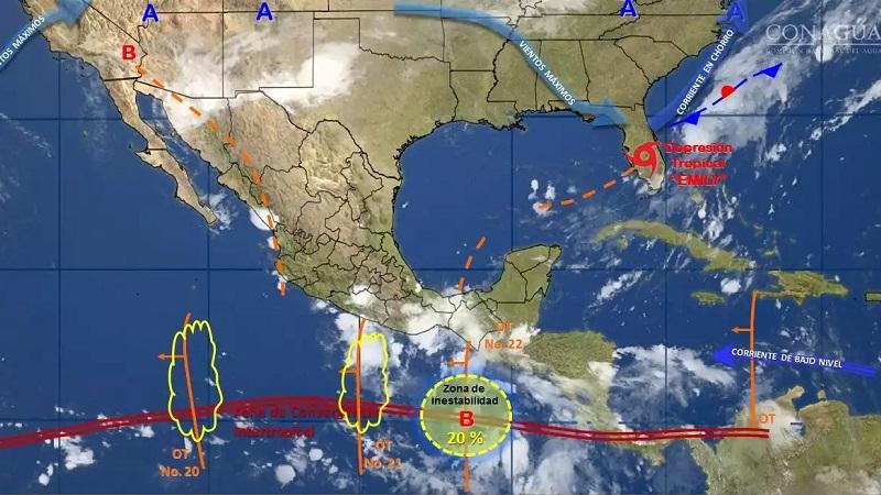 Se prevén temperaturas que pueden superar los 40°C: Baja California, Baja California Sur, Sonora, Coahuila, Nuevo León, Tamaulipas, Sinaloa, Nayarit, Michoacán, Guerrero, Tabasco, Campeche y Yucatán