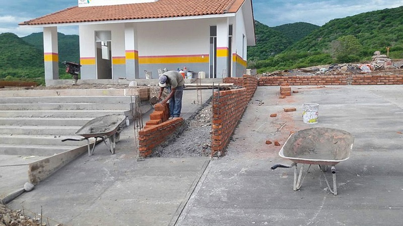 La dependencia concluye la obra de la casa de salud trabajando el cerco perimetral, la pintura y el balizamiento de las instalaciones, construidas en una superficie de 75.90 metros cuadrados