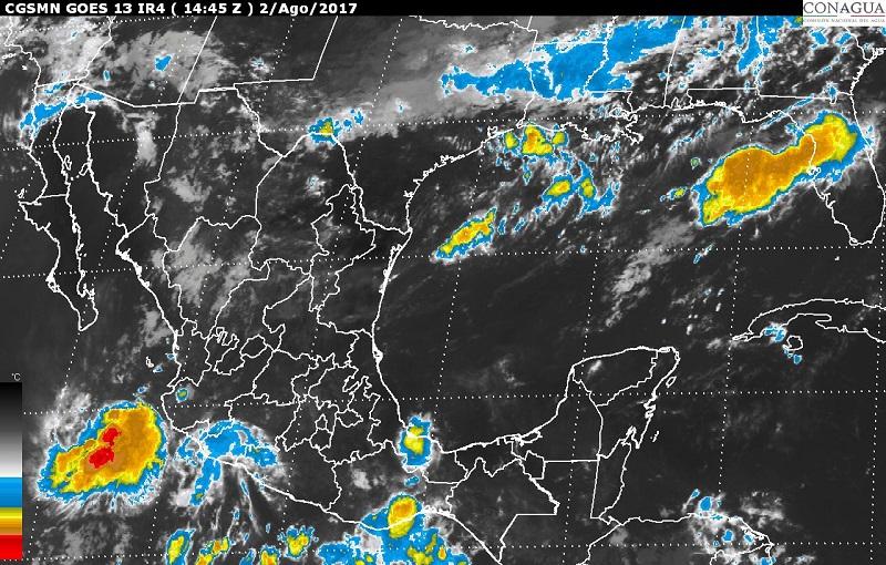 Se prevén tormentas muy fuertes en regiones del noroeste, el occidente y el sur de México