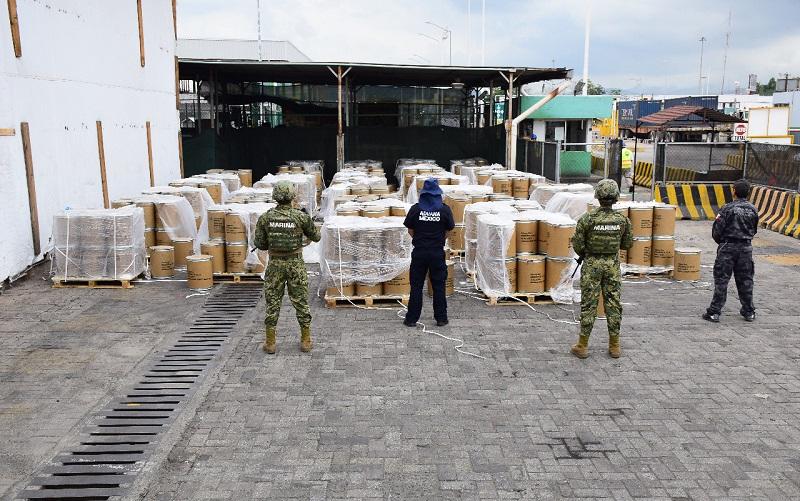 El cargamento fue puesto a disposición del Ministerio Público Federal para continuar con la carpeta de investigación