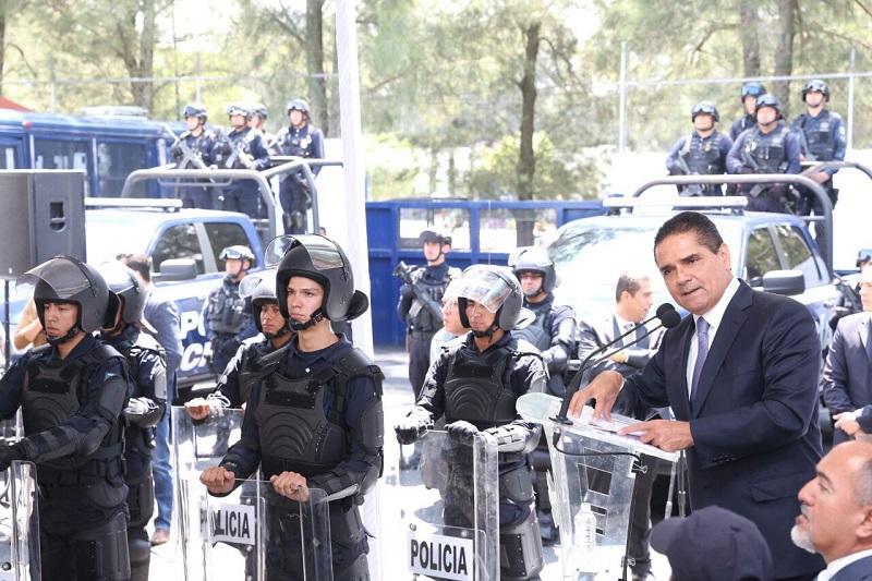 El mandatario estatal refirió que no se escatimarán esfuerzos hasta que los gobiernos municipales cuenten con las condiciones adecuadas de seguridad