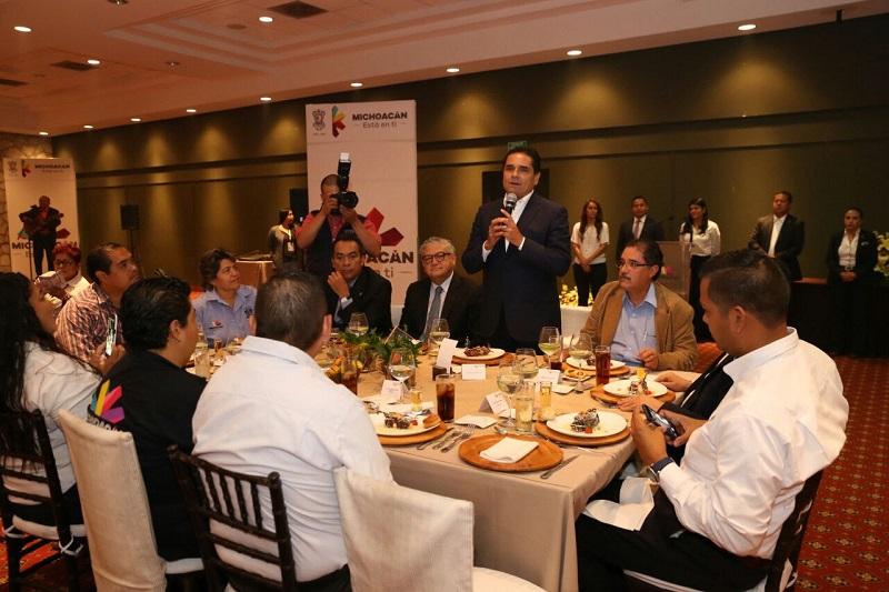 Aureoles Conejo enfatizó que se han redoblado los esfuerzos para contrarrestar las deudas y subejercicios heredados por anteriores administraciones