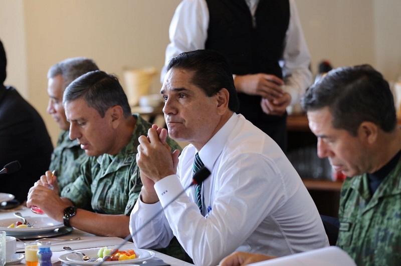 El mandatario estatal reiteró que el apoyo de las Fuerzas Armadas ha sido y es fundamental para seguir desplegando los operativos que permitan dar tranquilidad a la población