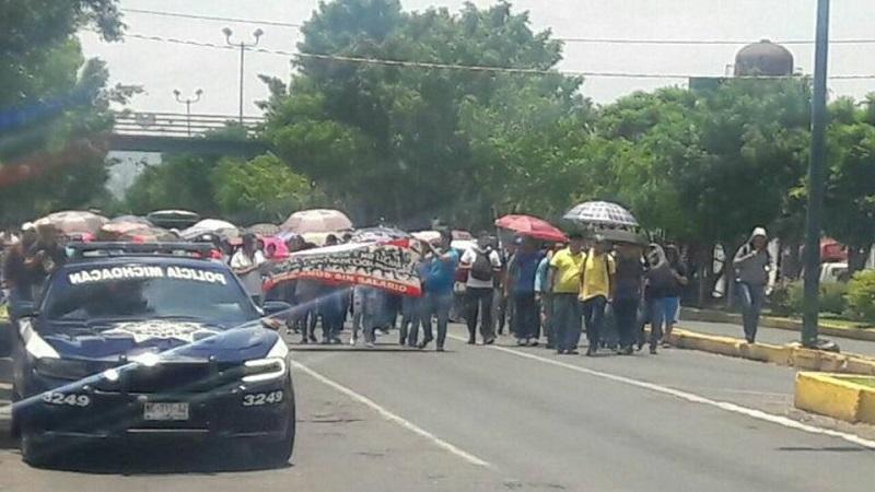 La marcha partió desde la Plaza Comercial La Huerta hacia Palacio de Gobierno