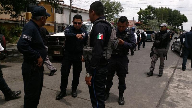 En la persecución de los delincuentes participaron la Policía Michoacán, la Policía de Morelia y Grupo Tigre de seguridad privada (FOTOS: FRANCISCO ALBERTO SOTOMAYOR)
