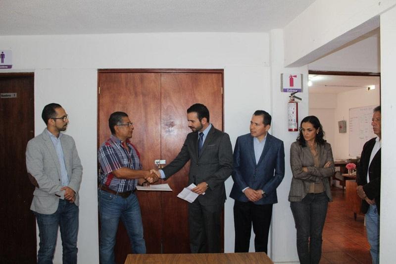 El secretario de Administración, Yankel Benítez Silva, fue el encargado de realizar el nuevo nombramiento y dar la bienvenida a Cervantes Jerónimo