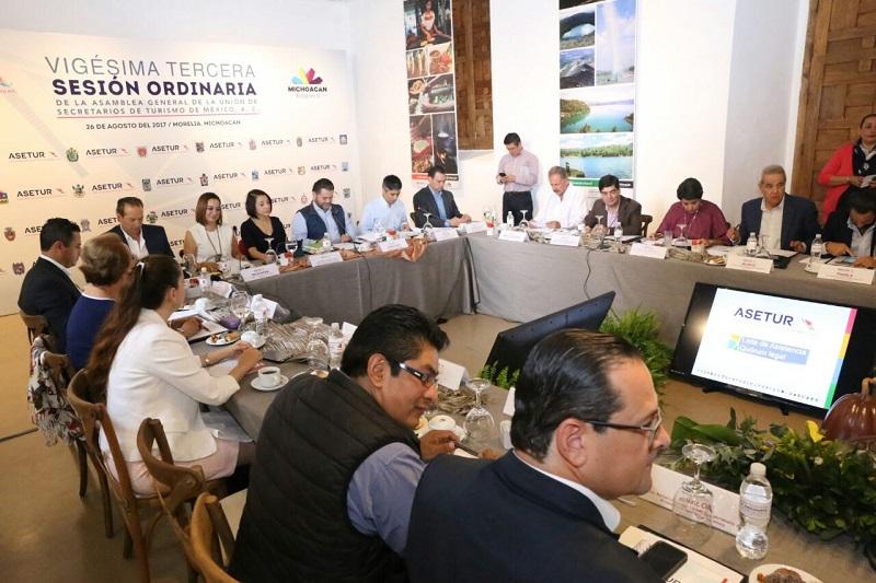 En marcha, los trabajos de la Asamblea General de la Reunión de Secretarios de Turismo de México A.C.