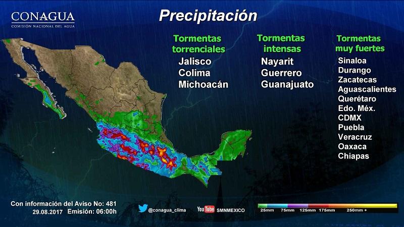 Vientos fuertes con rachas superiores a 60 kilómetros por hora (km/h) y posibles tolvaneras o torbellinos se pronostican en Sonora, Chihuahua, Coahuila, Nuevo León y Tamaulipas