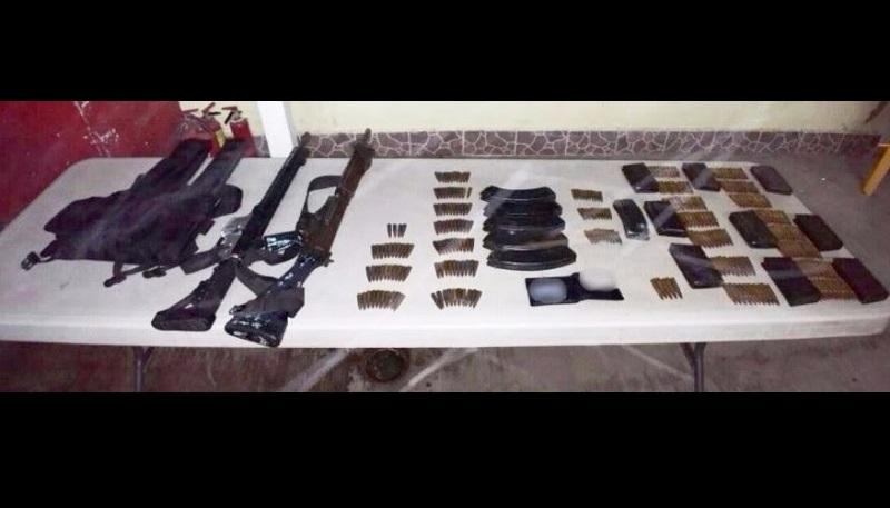 En coordinación con autoridades federales, la SSP realiza un operativo de búsqueda para dar con las personas que portaban las armas y garantizar la seguridad de la población
