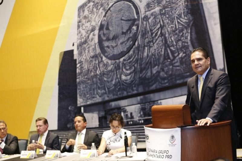 Aureoles Conejo solicitó el respaldo de los legisladores para materializar reformas en materia de seguridad, coordinación fiscal y la aplicación del Nuevo Sistema de Justicia Penal