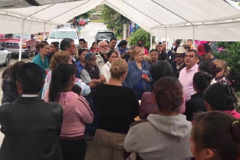 Ortiz García sostuvo una reunión con vecinos de las colonias 23 de Marzo y Ciudad Jardín, en el poniente de Morelia