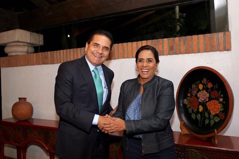 El gobernador de Michoacán y la senadora del PAN se reunieron en Casa de Gobierno; dialogaron en torno al contexto social y político de la entidad