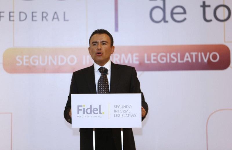 En su intervención, Fidel Calderón confirmó que en el tercer año de la Legislatura se coordinará con el grupo parlamentario de Morena