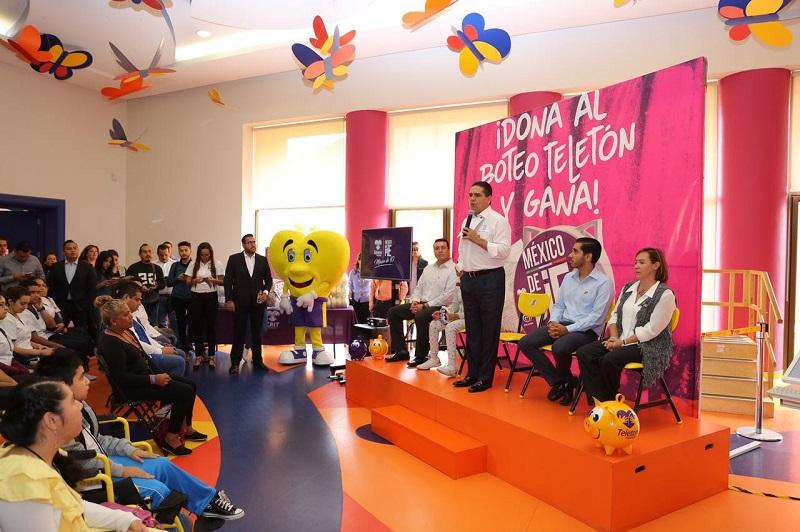 Aureoles Conejo solicitó el apoyo cordial de los medios de comunicación para la difusión del boteo, que permita mayor convocatoria y participación y así poder rebasar la meta de recaudación en el estado, al superar los 886 mil pesos obtenidos en el boteo 2016