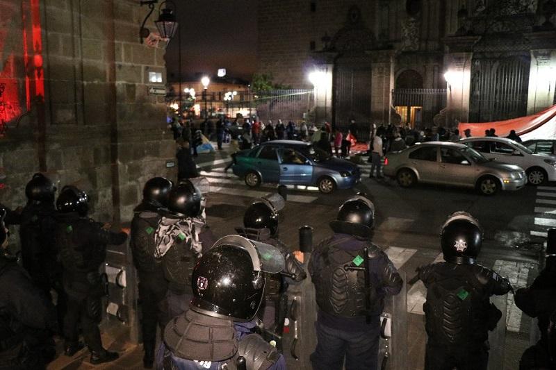Tras el diálogo con la autoridad estatal, los manifestantes se retiraron esta mañana de manera pacífica y la vialidad ya está abierta nuevamente a la circulación