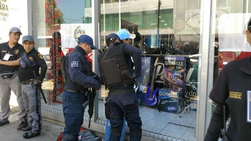 En la detención participaron agentes de la Policía Michoacán y elementos del Grupo Tigre de seguridad privada