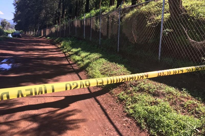 Posteriormente acudieron elementos de La policía Michoacán quienes confirmaron la información y resguardaron el lugar, solicitando el apoyo de la Unidad Especializada en la Escena del Crimen