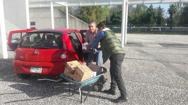 Buena respuesta de estudiantes y sociedad civil para entrega de víveres en el CIAC de Ciudad Universitaria