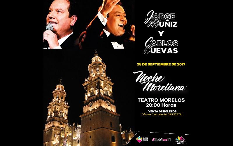 Se vivirá una noche romántica y del recuerdo con las voces de Jorge Múñiz y Carlos Cuevas