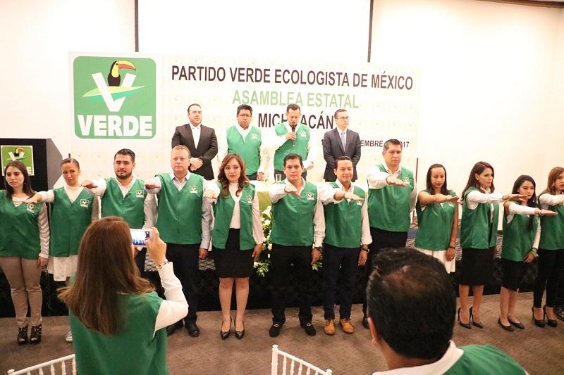 Núñez Aguilar hizo un llamado para la unidad al interior del Partido Verde, así como a redoblar día a día los esfuerzos para fortalecer las estructuras, no sólo en Morelia, sino también al interior del Estado de Michoacán