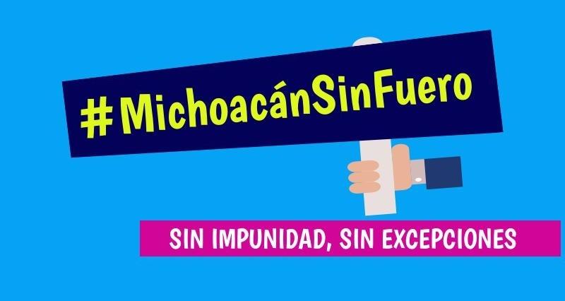 El CMN hace un llamado a la ciudadanía michoacana, a la sociedad civil organizada, cámaras y asociaciones del estado, para que busquemos juntos eliminar totalmente el fuero en Michoacán y vigilar el proceso parlamentario de dictaminación y reforma legislativa en la materia