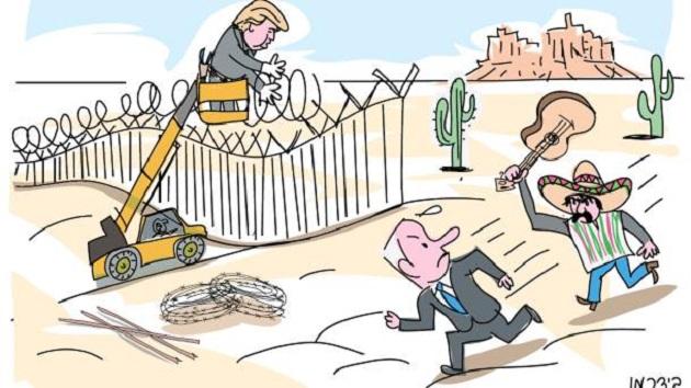 Sólo basta ver las caricaturas hechas por el más importante diario israelí Haaretz, en donde ridiculizan a los mexicanos, poniéndolos como rancheros de grande sombrero y huarache, corriendo con una guitarra, tras el primer ministro de Israel